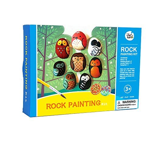 Jar Melo Rock Painting Kit; Non-Toxic; Rock Art; Creative Colorful Magic Stone; Art Creativity; Arts and Crafts Kits for Adults and Kids ()