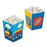 Mini Size Train Popcorn Boxes - 24 pc
