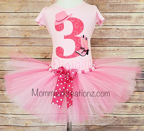 Amazon Cowgirl Tutu Set Birthday Outfit Pink Handmade