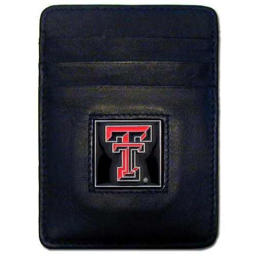 NCAA Texas Tech Red Raiders Leather Money Clip/Cardholder Wallet