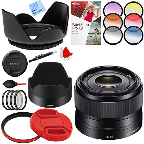 Sony 35mm f/1.8 Prime Fixed E-Mount Full Frame Lens with 49m