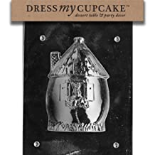 Dress My Cupcake DMCE208A Chocolate Candy Mold, Bunny Hut, Easter