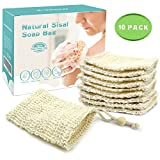 E-Know Soap Bag, 10 Pack Natural Sisal Soap