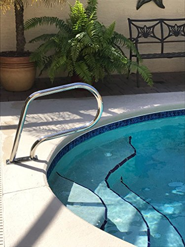 Fibropool Easy Mount Hand Rail with Base Plate