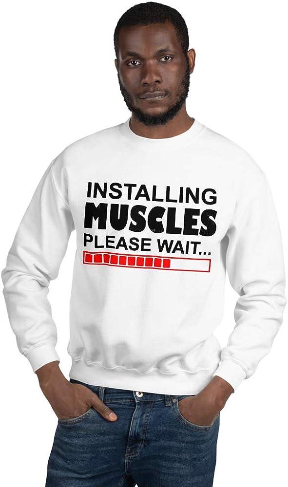 Mynimo Installing Muscles Please Wait Workout Training Body Building Unisex Sweatshirt