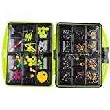 SODIAL(R) 24 kinds of Assorted Fishing tackles Swivels Jig hooks Leads Box accessory