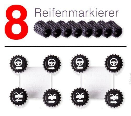 Ventilkappen ULTIMATE SPEED/® Reifenmarkierer-Set 8-tlg