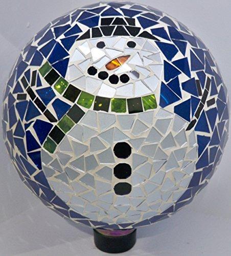 Very Cool Stuff GLMSM102 VCS Mosaic Snowman Glass Globe, 10''