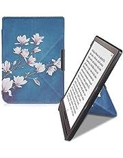 kwmobile hoes compatibel met Pocketbook InkPad 3/3 Pro/Color - Hoesje voor ereader in taupe/wit/blauwgrijs