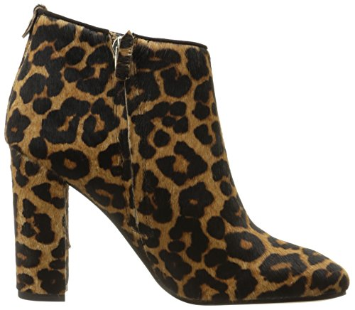 Brown Leopard Bootie Women's Sam Ankle Edelman Cambell Black 07xqXP