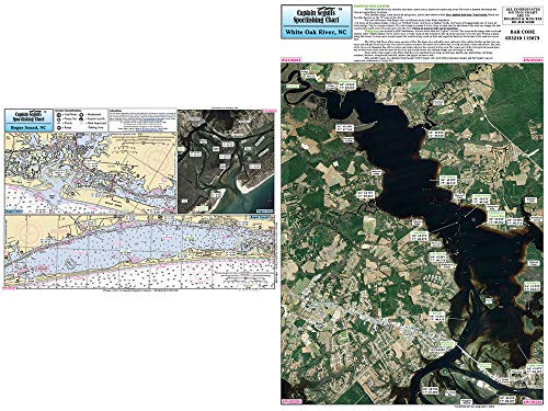 Captain Segull's Inshore White Oak River/Bogue Sound, NC Fishing Nautical Chart