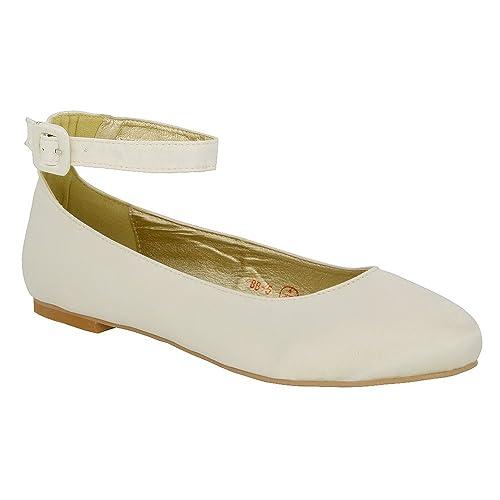 ESSEX Donna GLAM Scarpa Donna ESSEX Sintetico Ballerina Cinturino Caviglia Tacco   3256e9