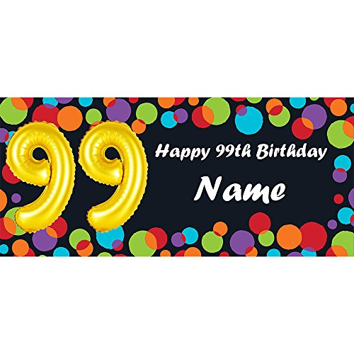 BALLOON 99TH BIRTHDAY CUSTOMIZED BANNER (EACH) customized by