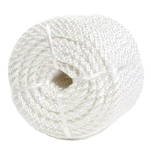 Koch 5210836 Twisted Nylon Rope, 1/4 by 100 Feet, White