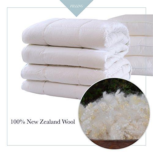 Certified Organic Wool - A1HC GOTS Organic Cotton 100% New Zealand Pure Wool Duvet Inserts 92x88
