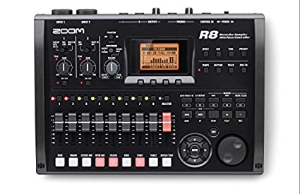 Zoom R8 8-Track SD Card Recorder Interface and Controller