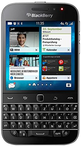 | Blackberry Classic Q20 SQC100-1 - QWERTZ Keypad - Factory Unlocked, International Version - Dark Black