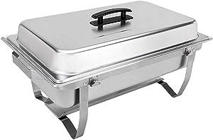 Sterno Foldable Frame Buffet Chafer Set, 8 quart, Silver