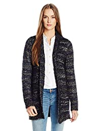 Lucky Brand Women\'s Shine Stripe Cardigan, Natural Multi, Small