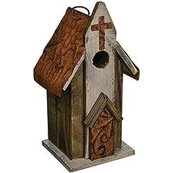 Carson Home Accents Rustic Church Birdhouse