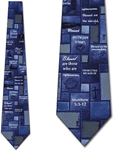 The Beatitudes Religious Ties Inspirational Mens Necktie