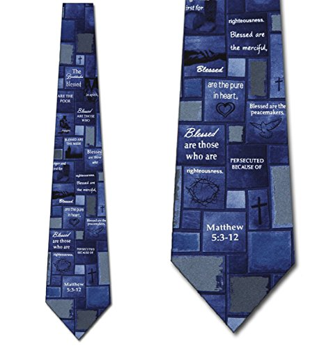 The Beatitudes Religious Ties Inspirational Mens Necktie
