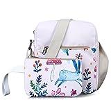 Leaper Cute Floral Messenger Bag Crossbody Bags Purse Travel Shoulder Bag Pink Review
