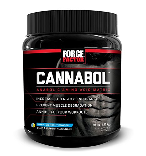 Cannabol BCAA Powder, 6:1:1 BCAA Amino Acid Intra-Workout for Muscle Growth, Strength, and Endurance, Refreshing Flavors, Force Factor, 30 Servings by Force Factor