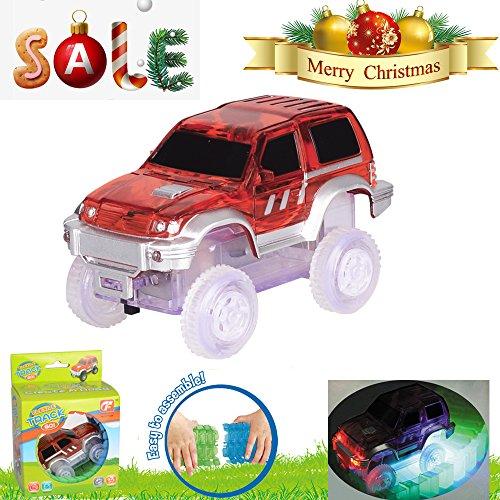 柔軟なトラック拡張パックセットwith 24個ツイストグローin theダークトラック、子供車のおもちゃを3Year Old and up
