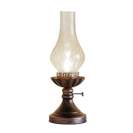 Pantalla de cristal Home Antigua lámpara de keroseno Retro ...