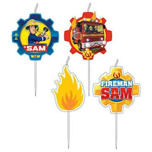 CAPRILO Lote de 4 Velas Infantiles Decorativas Sam el ...