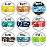 Maud's 9 Flavor Coffee Variety Pack, 80ct. Recyclable Single Serve Coffee Pods - Richly satisfying arabica beans California Roasted, k-cup compatible including 2.0