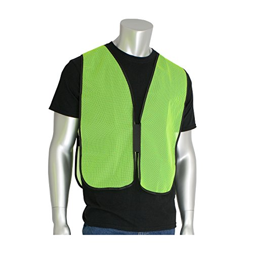 Worktex Safety Basic Non-ANSI Mesh Safety Vest, Lime, Size Universal, 10 per Pack ()