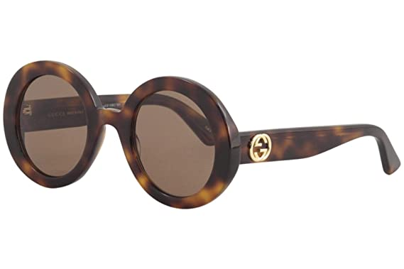 2720cad7c48 Amazon.com  Gucci GG0319S Sunglasses 002 Havana   Brown Lens 52 mm ...