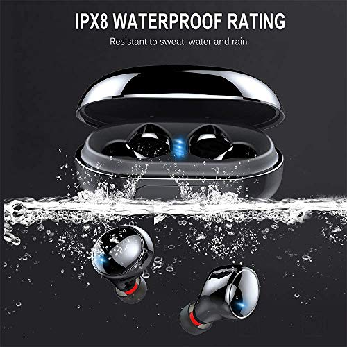 Bluetooth Kopfhörer in Ear, Kopfhörer Kabellos IP8 Wasserdicht 150H Spielzeit Wireless Kopfhörer Bluetooth 5.0 Headset mit 3500mAh Ladebox, Noise Cancelling Kopfhörer Mic, Deep Bass, Touch Control
