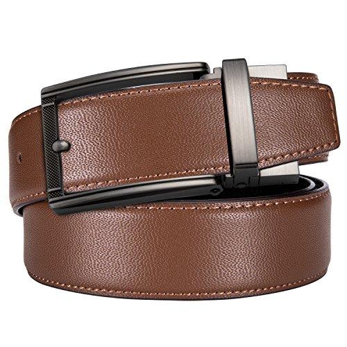 Genuine Leather Belt Big Buckle Designer Double-use Strap Men Dress Playboy Fashion Belt Set Formal Casual ()