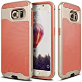 Galaxy S6 Case, Caseology® [Wavelength Series] Textured Pattern Grip Cover [Coral Pink] [Shock Proof] for Samsung Galaxy S6 - Coral Pink