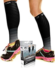 Compression Calf Sleeves for Men and Women (20-30mmhg),Footless Compression Socks for Shin Splints, Running, C