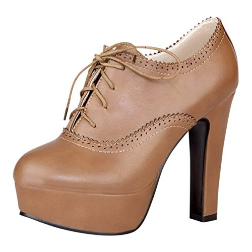 Kengät Platform Oxford Sitoa Korkokengät Naisten Syksy Valinta Valssi Kevät Arkinen Pumput Ruskea qxSZ04Fw