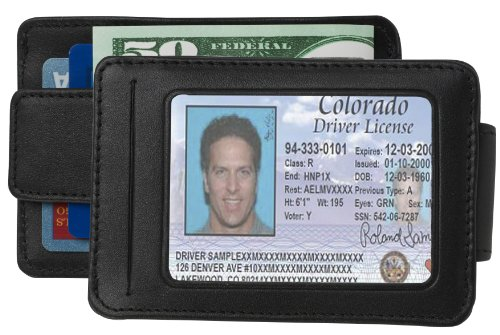 SG-105 DeepPocket Leather Money Clip Wallet, Top Grain Cowhide with ()