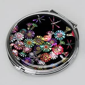 Amazon Com Mother Of Pearl Dragonfly Double Compact