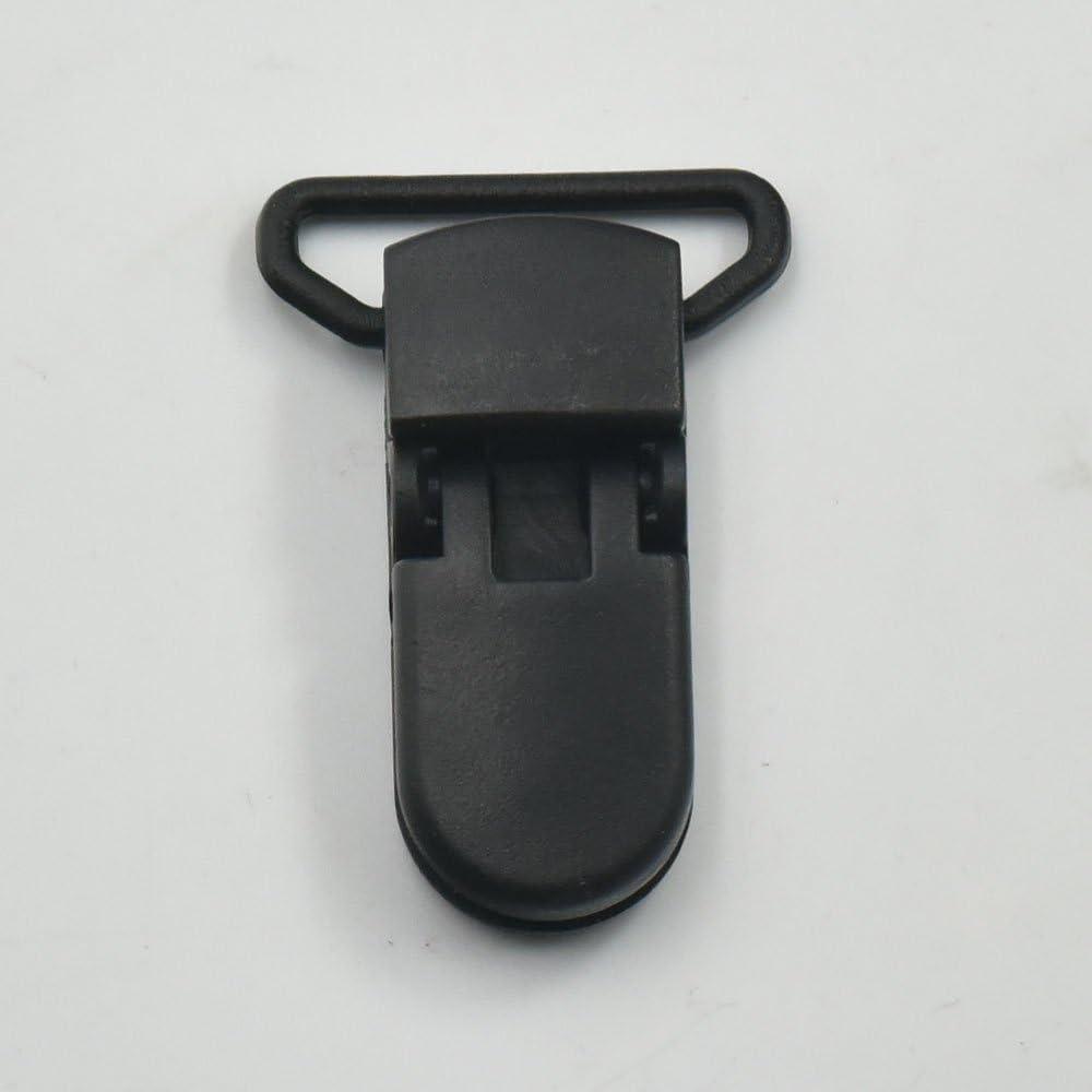 12mm 1//2 schwarz 25/PCS 25/mm 12/mm 2,5/cm 1//5,1/cm Kunststoff Paci Schnuller Straps Clip Halter baby F/üttern Badge D Ring schwarz