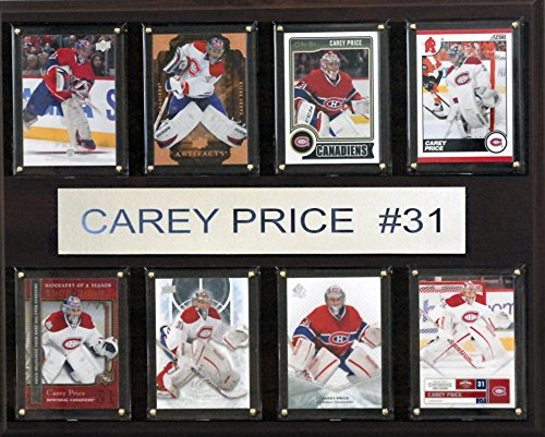 NHL Montreal Canadiens Carey Price 8-Card Plaque, 12 x - Canadiens Card Hockey