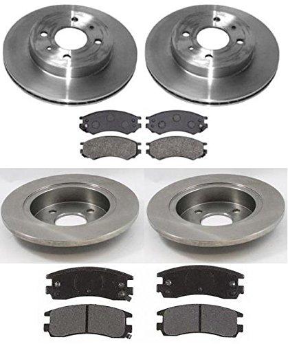 91 Sw Brake - Brake Pads & Rotors Kit All 4 COMPLETE Set for 91-98 Saturn SL SC SW