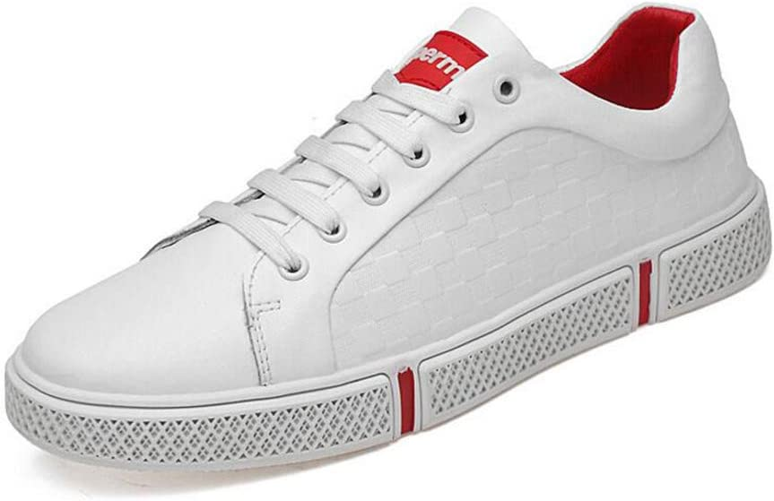 Y-H Zapatos Informales para Hombre, Zapatos de Muelle con Plataforma Plana, Zapatos de Viaje para Trekking, Talla Grande 36 – 46, Zapatos Informales pequeños, Color Blanco: Amazon.es: Jardín