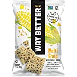 Way Better Snacks Tortilla Chips, Simply Sunny Multi Grain, 1.25 Ounce (Pack of 24)
