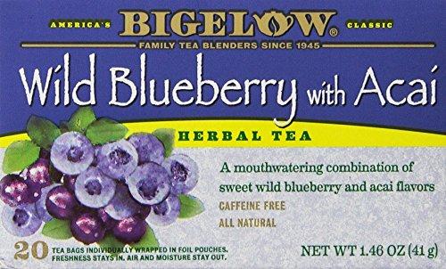 Bigelow Tea Wild Blueberry with Acai Herb Tea, 20-Count (Pack of (Bigelow Herb)