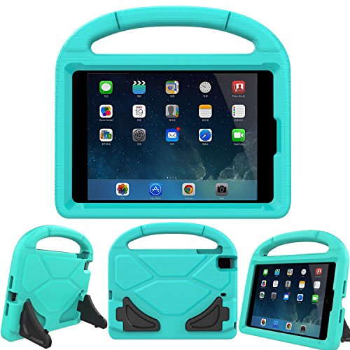 for iPad Mini 1 2 3 4 5 - Light Weight Shock Proof Handle Friendly Convertible Stand Kids Case for iPad Mini, Mini 5, Mini 4,iPad Mini 3rd Generation, Mini 2 Tablet - Turquoise ()