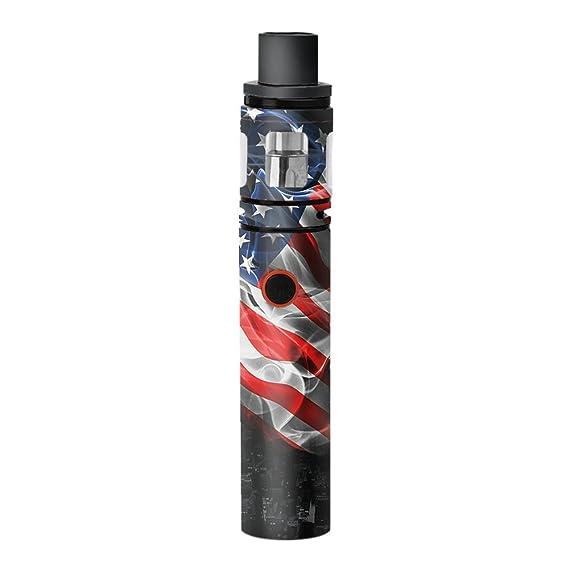 Skin Decal Vinyl Wrap for Smok Stick V8 Pen Vape stickers skins cover/  American Flag waving