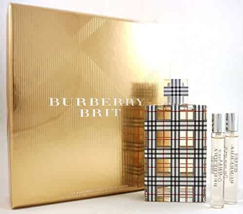 BURBERRY Brit for Women Eau de Parfum Gift Set (3.3 oz + Body Lotion + Purse Spray)